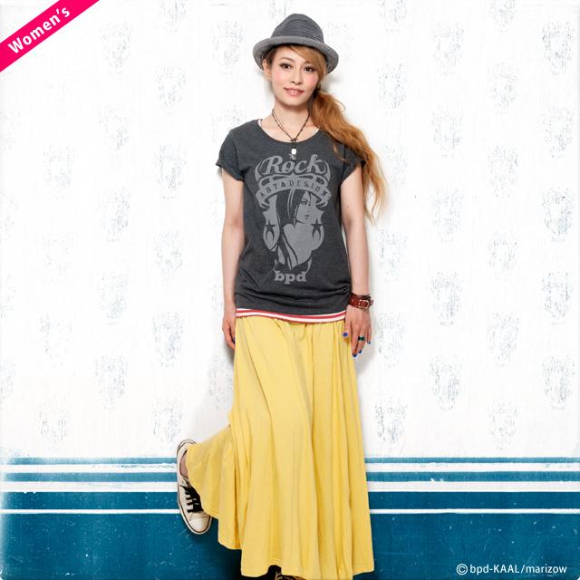 レディースTシャツ Rock ロック エンブレム