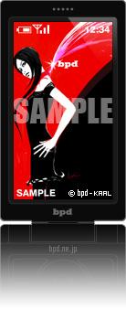 bpd KAAL 携帯待受アート Fashion Red