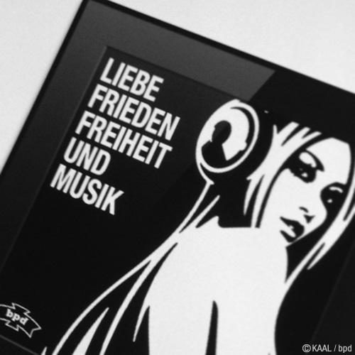 インテリアアート Liebe Frieden Freiheit und Musik