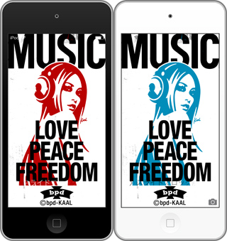 bpd KAAL Love Peace Freedom wallpaper