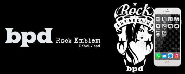 bpd Rock エンブレム BLACK iPhone きせかえ