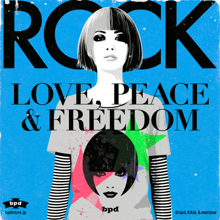 bpd kaal rock love peace グラフィックアート