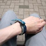 bpd kaal leather bracelet japan blue