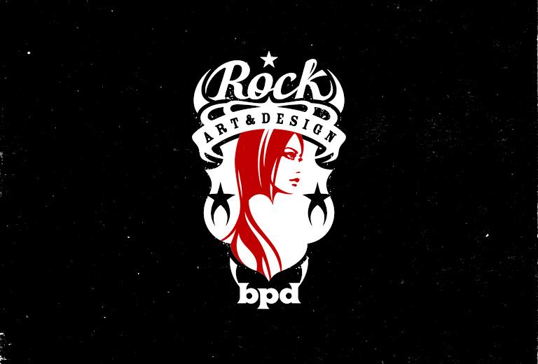 bpd kaal rock woman emblem symbol design