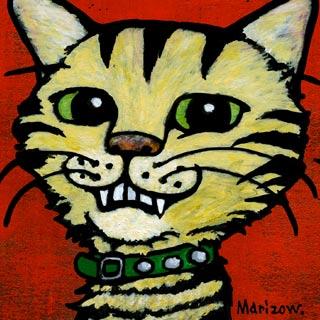 bpd marizow cat character painting
