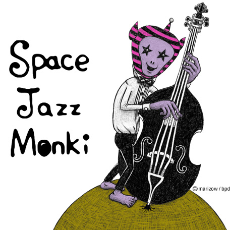 marizow space jazz monki character illustration