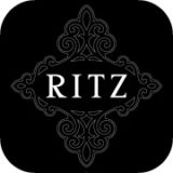 ritz hair salon emblem design
