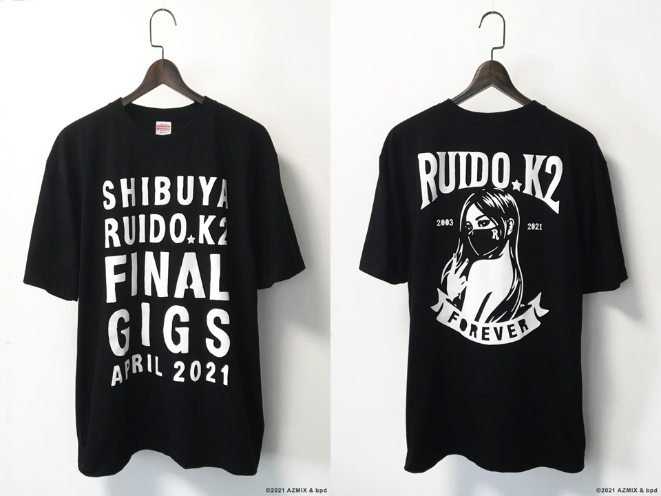 Shibuya Ruido K2 Final Gigs Memorial Tee shirt design by KAAL bpd