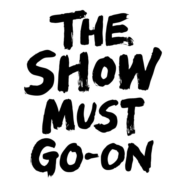 the show must go-on logotype 2