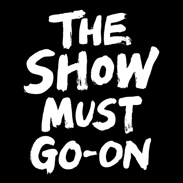 the show must go-on logotype