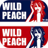 wild peach sticker design